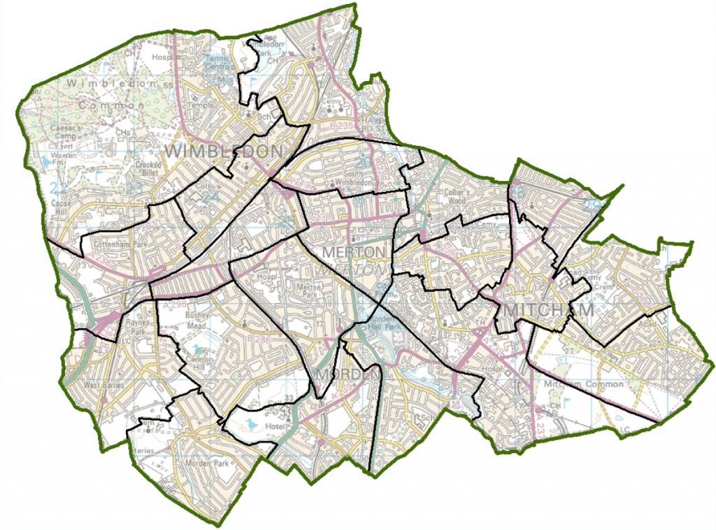 Merton Ward Map